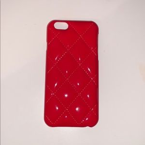 IPhone 6, 6s, 7 &8! Red diamond-padded case!